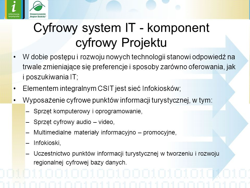 Cyfrowy system IT - komponent cyfrowy Projektu