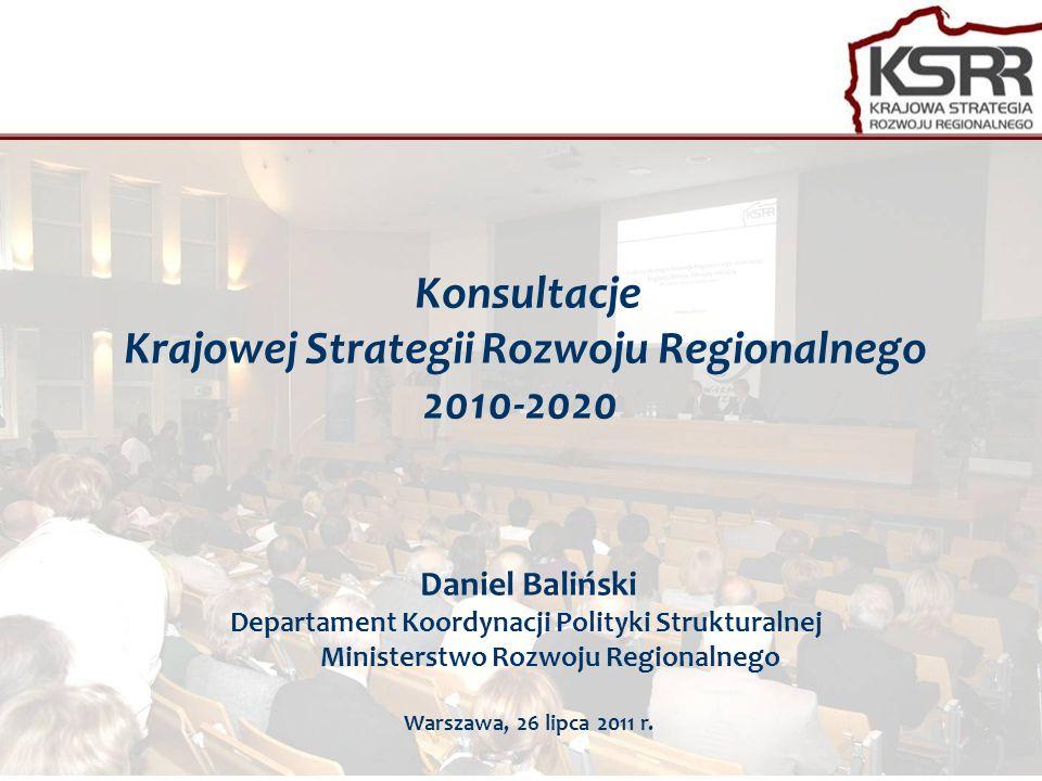 Konsultacje Krajowej Strategii Rozwoju Regionalnego