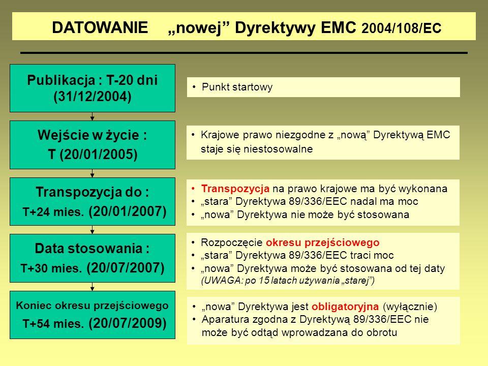 """DATOWANIE """"nowej Dyrektywy EMC 2004/108/EC"""