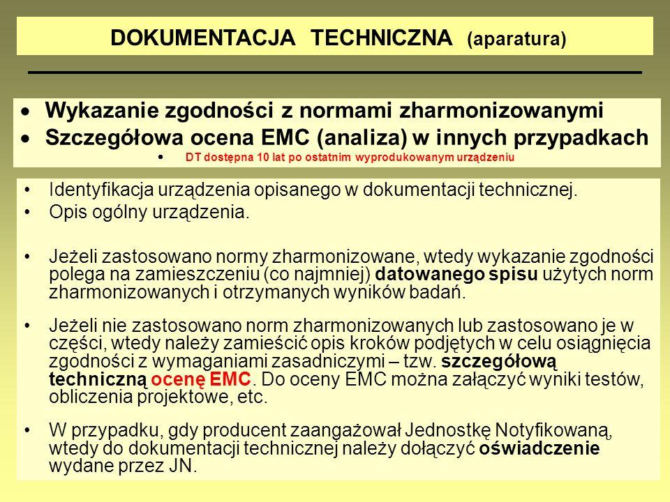 DOKUMENTACJA TECHNICZNA (aparatura)
