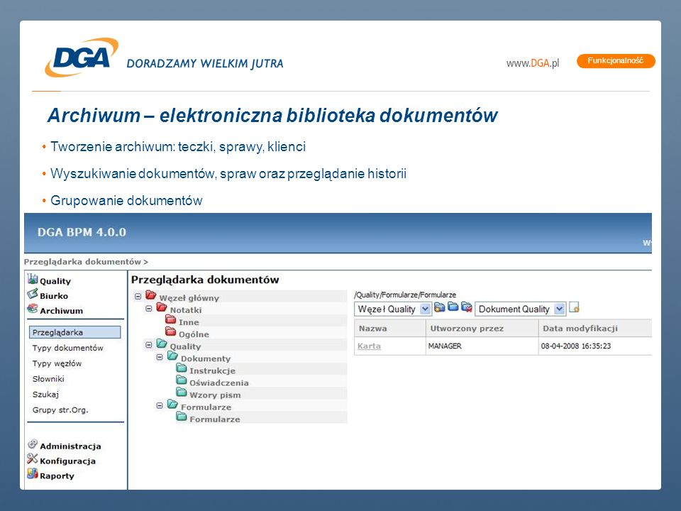 Archiwum – elektroniczna biblioteka dokumentów