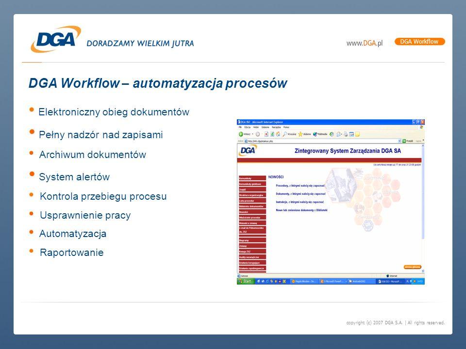 DGA Workflow – automatyzacja procesów