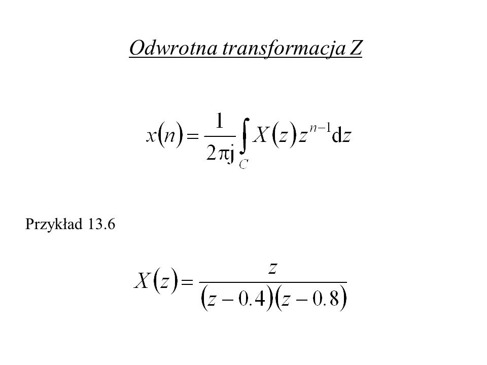 Odwrotna transformacja Z