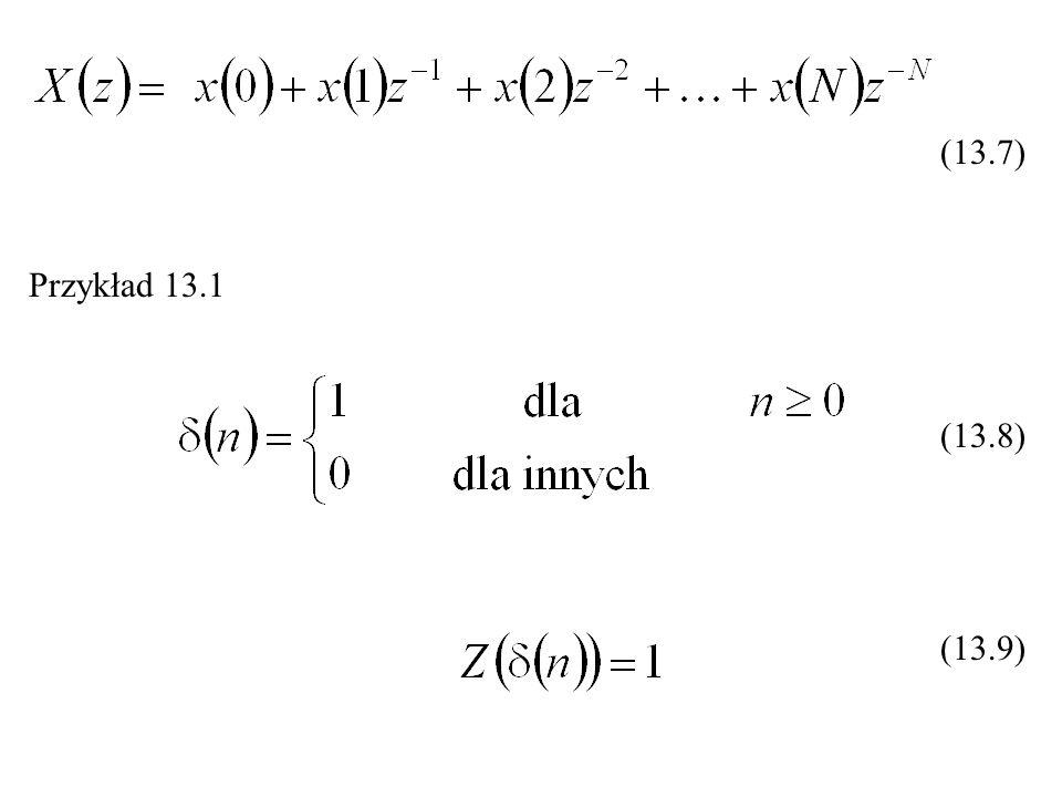 (13.7) Przykład 13.1 (13.8) (13.9)