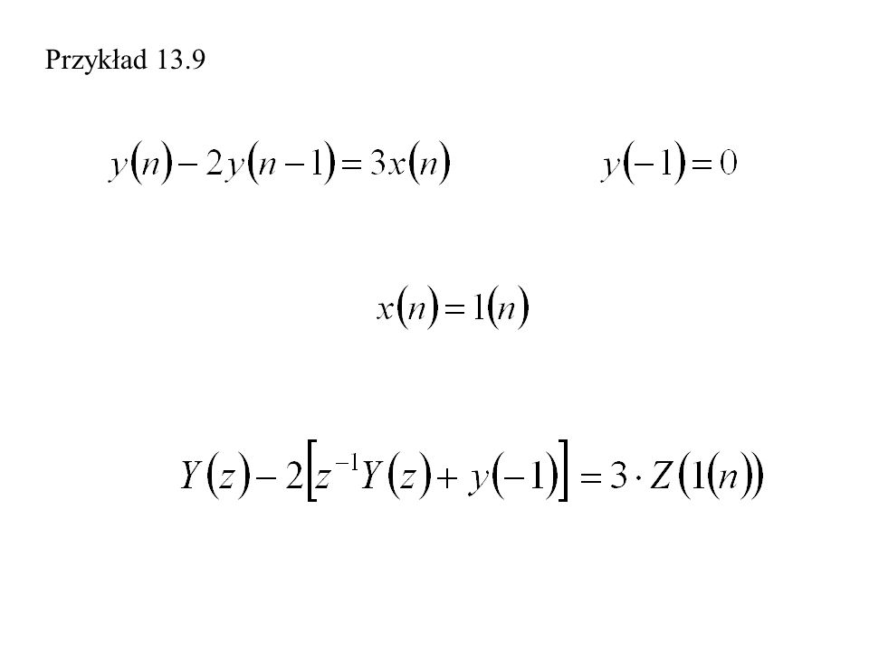 Przykład 13.9