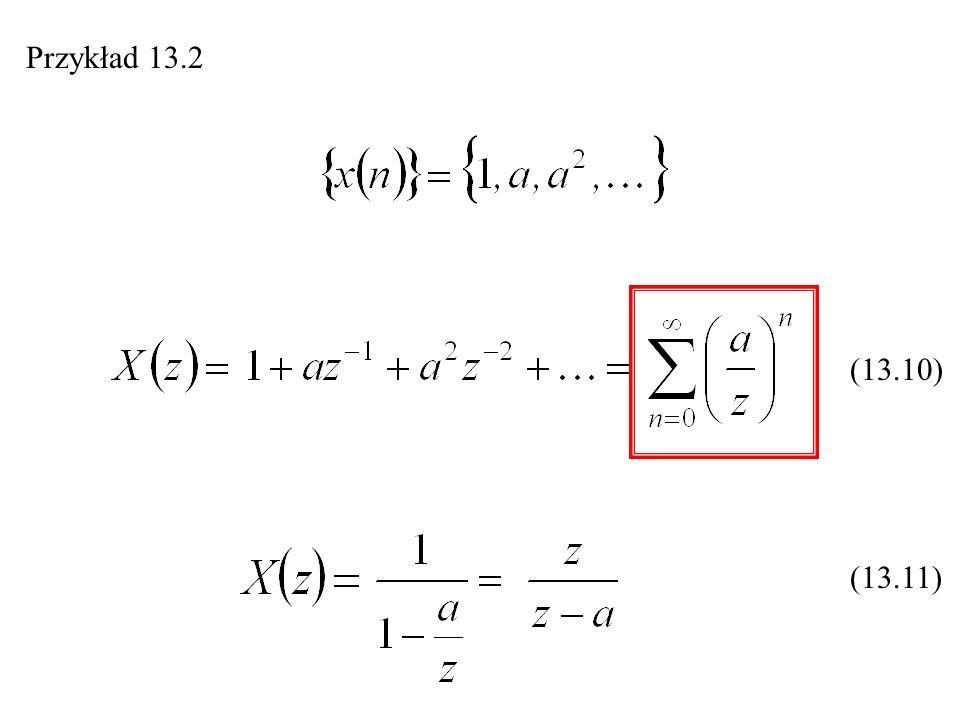 Przykład 13.2 (13.10) (13.11)