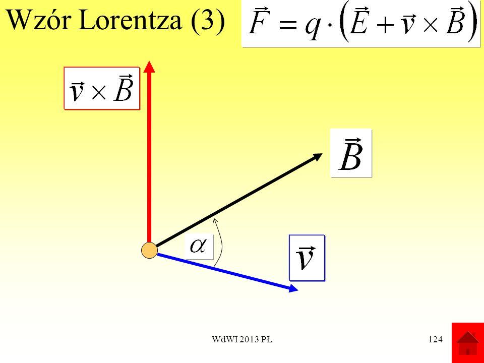 Wzór Lorentza (3) WdWI 2013 PŁ