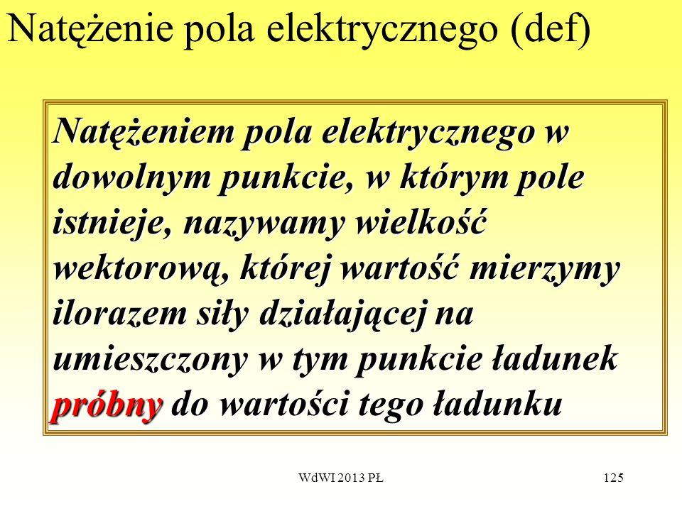 Natężenie pola elektrycznego (def)