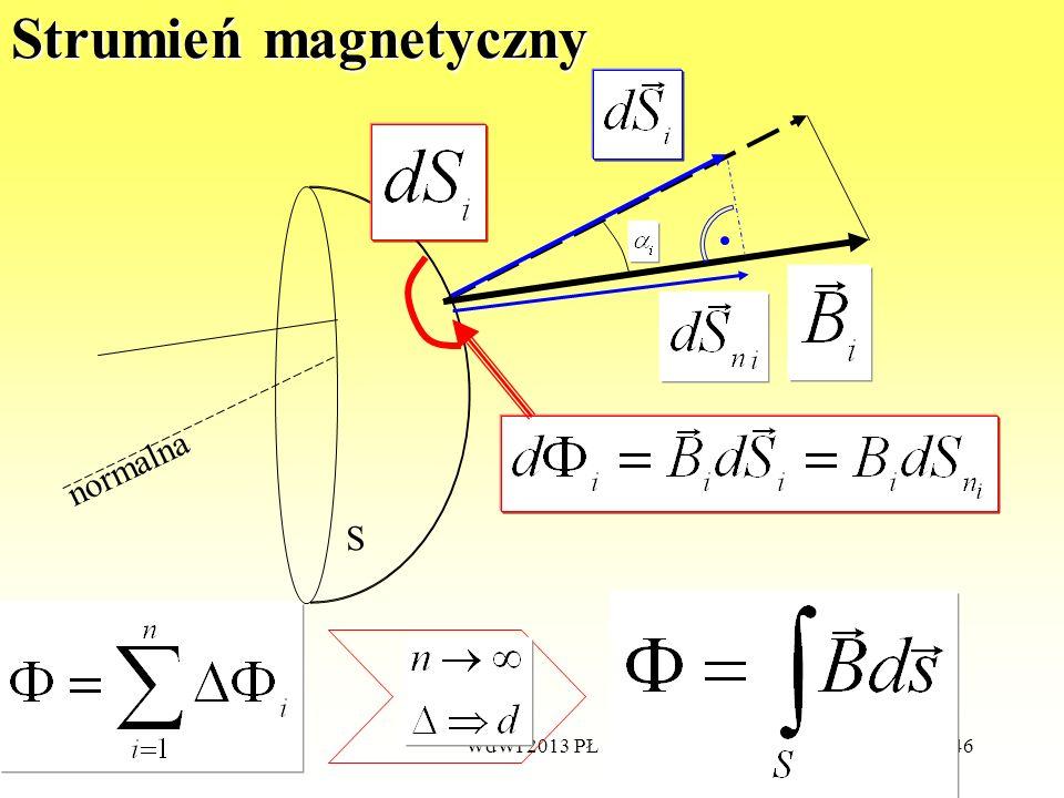 Strumień magnetyczny normalna S WdWI 2013 PŁ