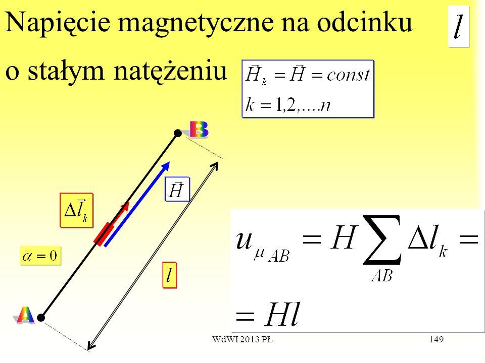 Napięcie magnetyczne na odcinku