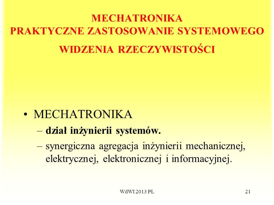 MECHATRONIKA PRAKTYCZNE ZASTOSOWANIE SYSTEMOWEGO WIDZENIA RZECZYWISTOŚCI