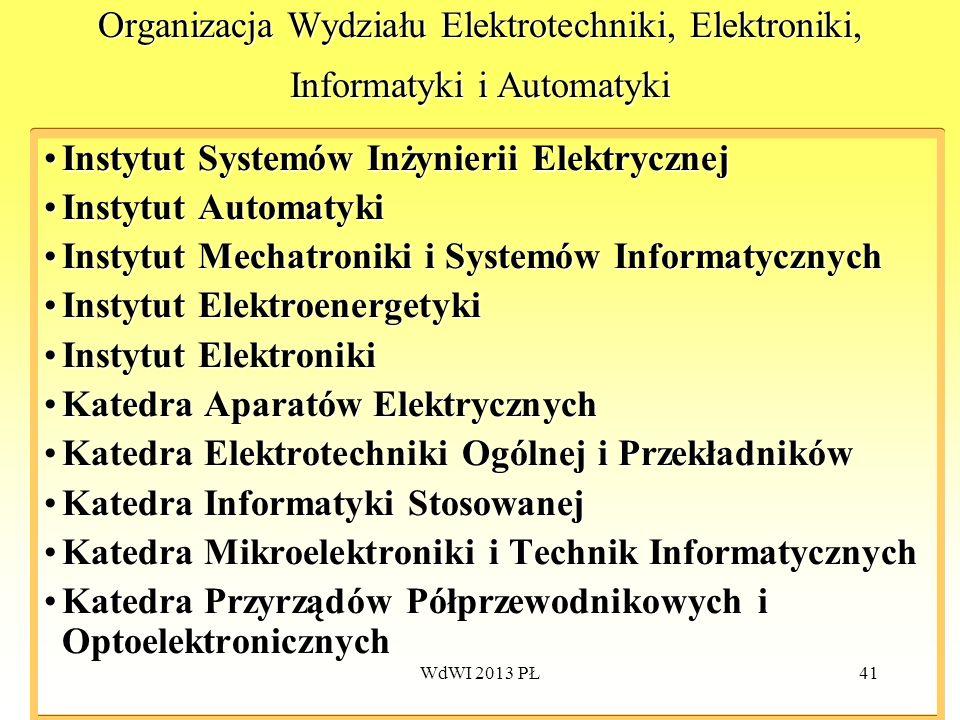 Instytut Systemów Inżynierii Elektrycznej Instytut Automatyki