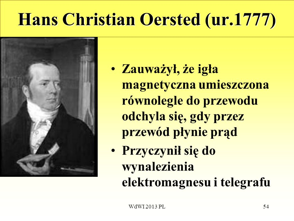 Hans Christian Oersted (ur.1777)