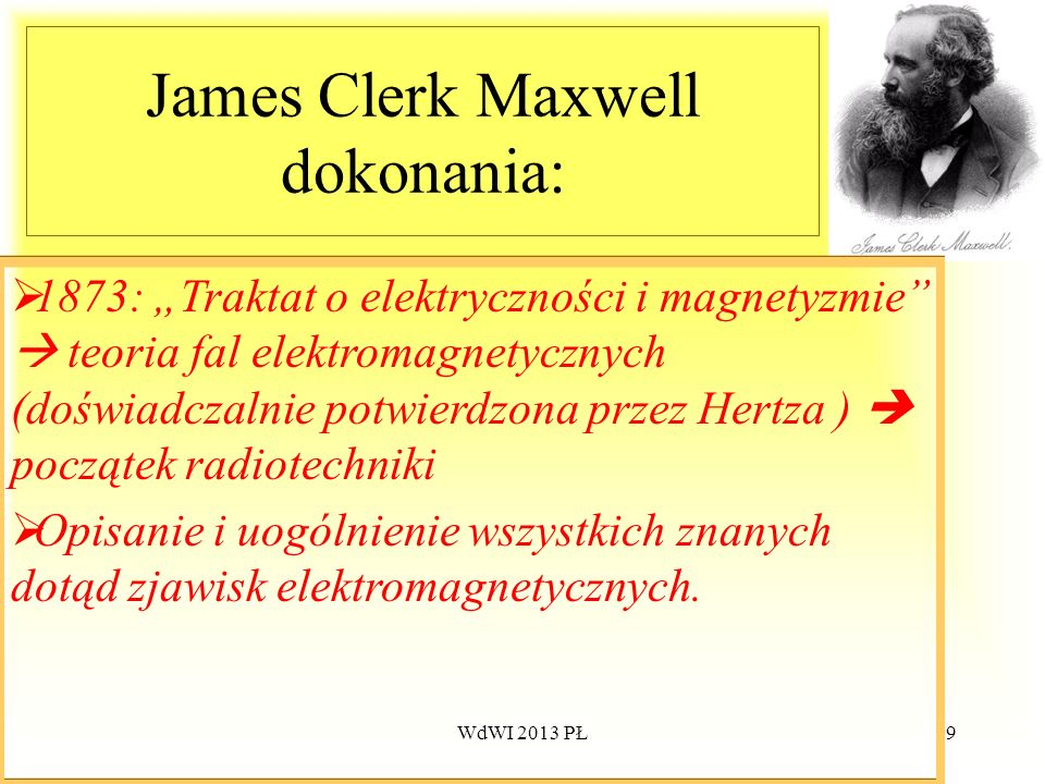 James Clerk Maxwell dokonania: