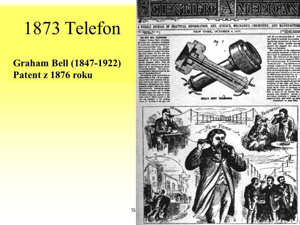 1873 Telefon Graham Bell (1847-1922) Patent z 1876 roku WdWI 2013 PŁ
