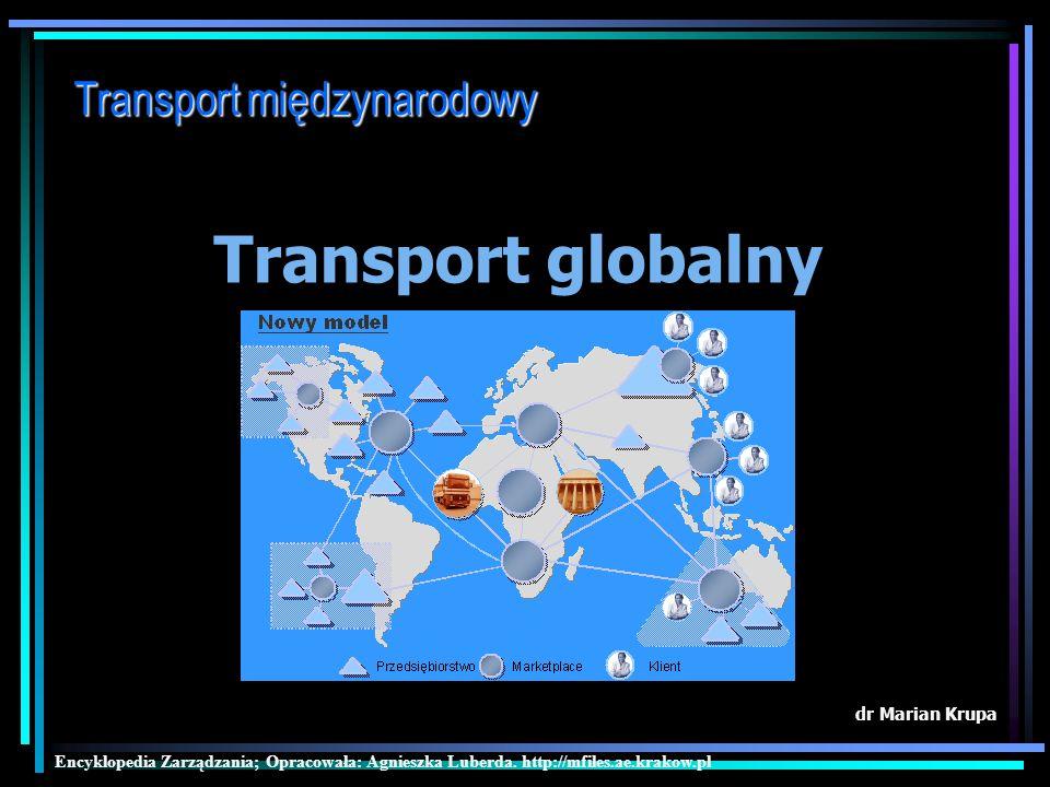 Transport globalny Transport międzynarodowy dr Marian Krupa