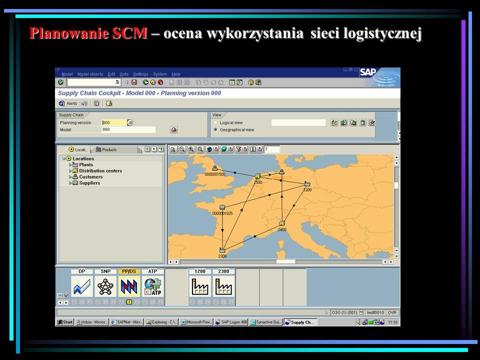 Planowanie SCM – ocena wykorzystania sieci logistycznej