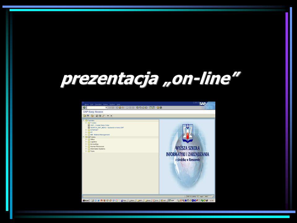 "prezentacja ""on-line"