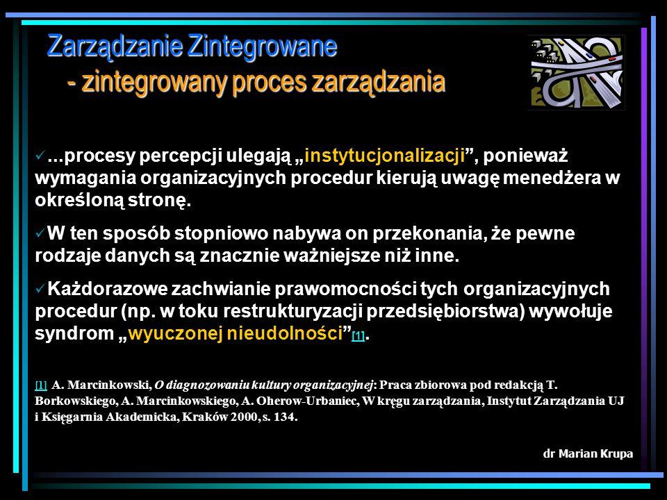 Zarządzanie Zintegrowane - zintegrowany proces zarządzania