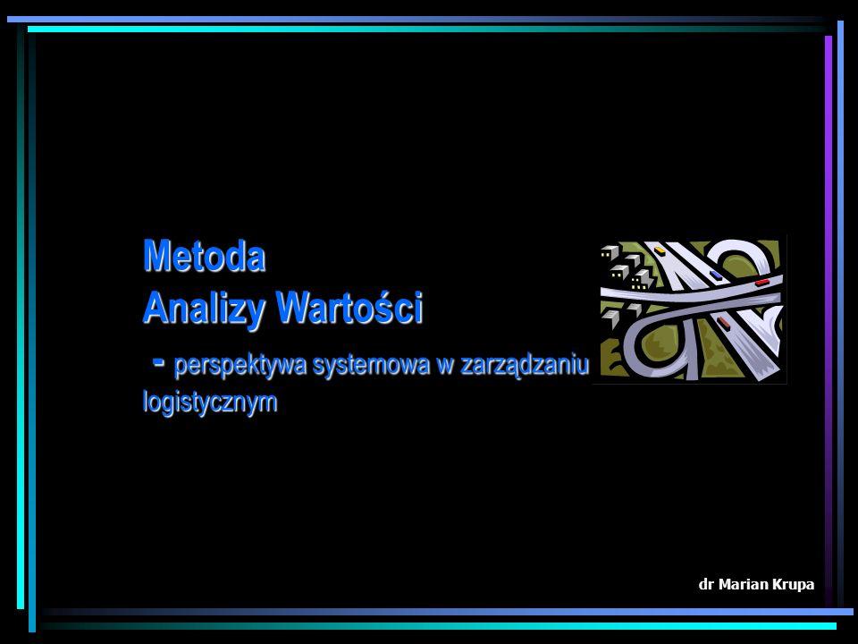 Metoda Analizy Wartości - perspektywa systemowa w zarządzaniu logistycznym