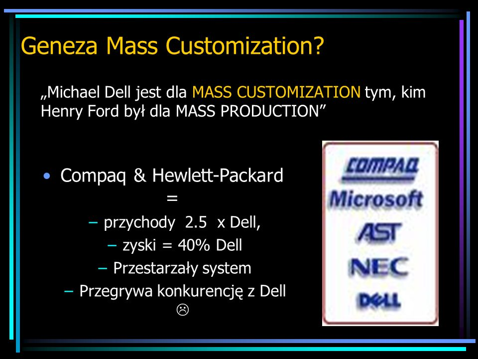 Geneza Mass Customization