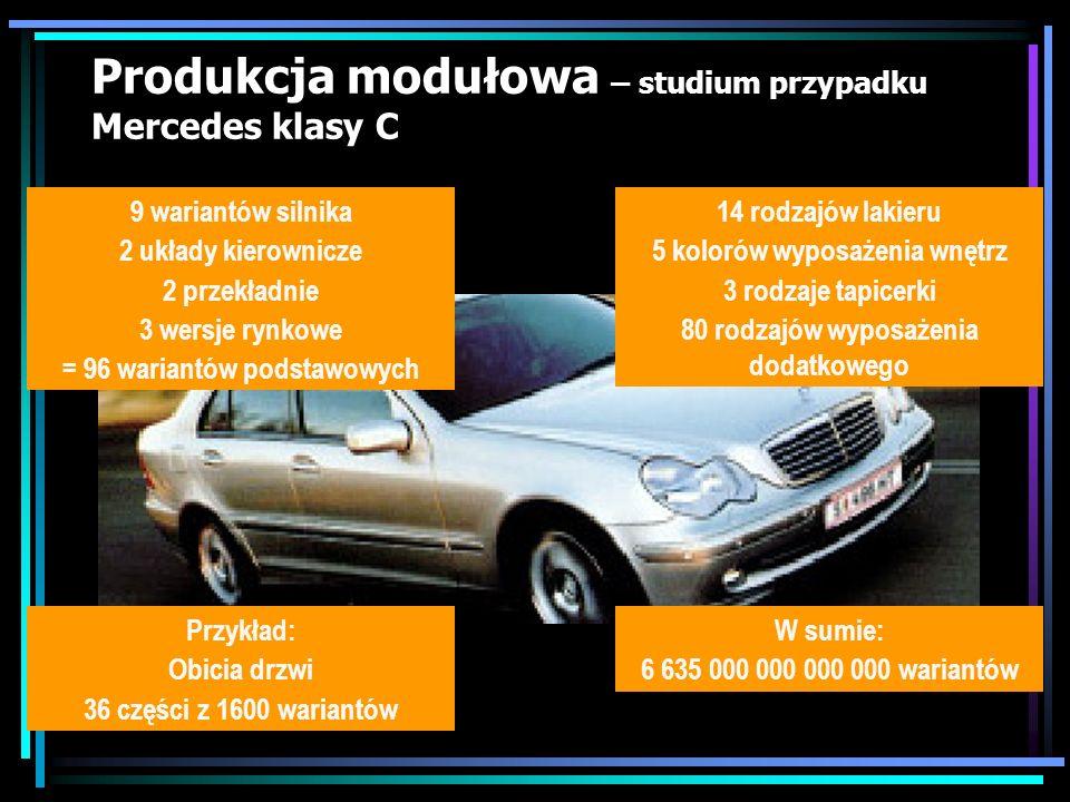 Produkcja modułowa – studium przypadku Mercedes klasy C