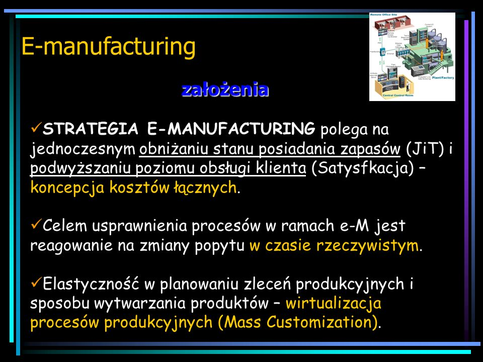 E-manufacturing założenia