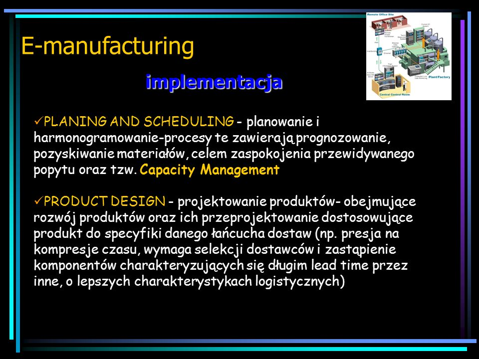 E-manufacturing implementacja