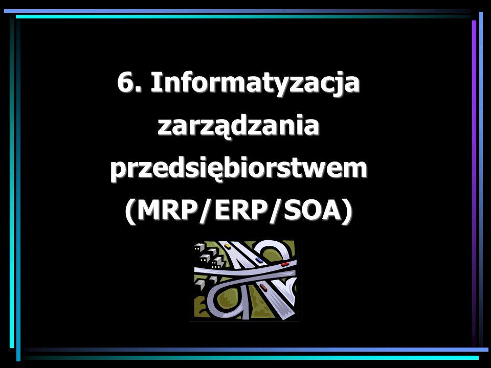 6. Informatyzacja zarządzania przedsiębiorstwem (MRP/ERP/SOA)