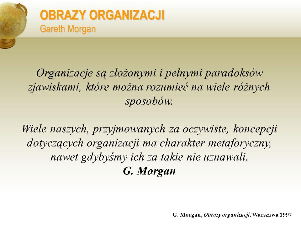 OBRAZY ORGANIZACJI Gareth Morgan