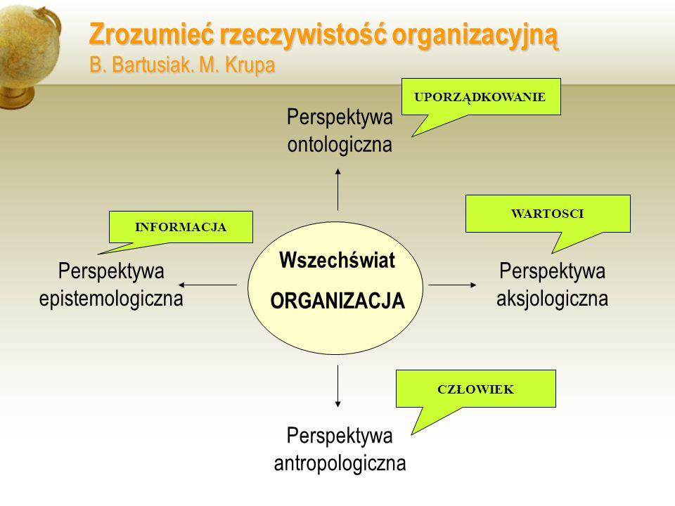Zrozumieć rzeczywistość organizacyjną B. Bartusiak. M. Krupa