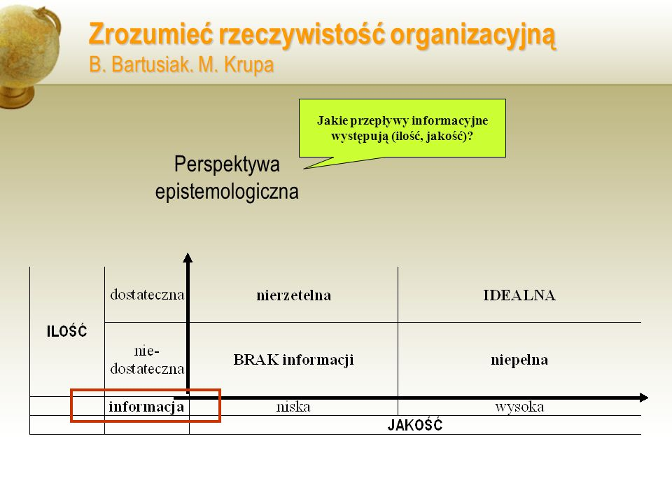 Jakie przepływy informacyjne występują (ilość, jakość)