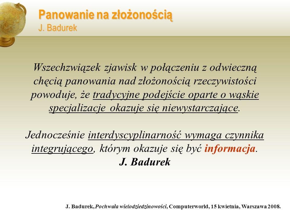 Panowanie na złożonością J. Badurek