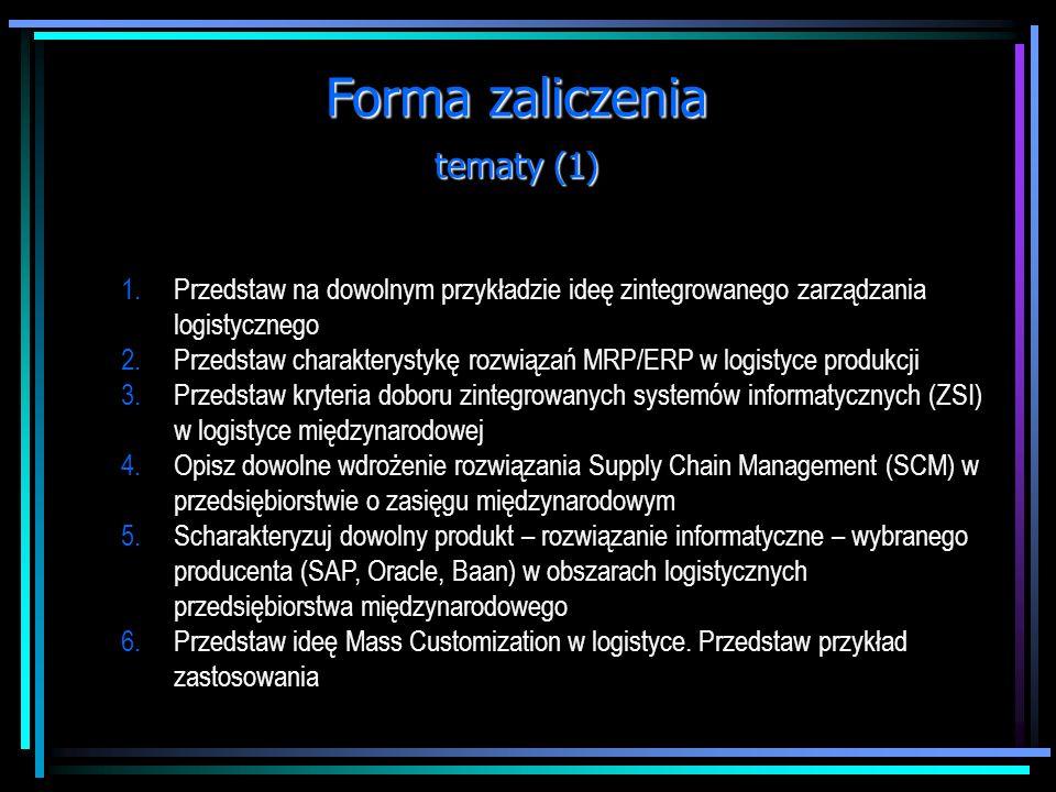 Forma zaliczenia tematy (1)
