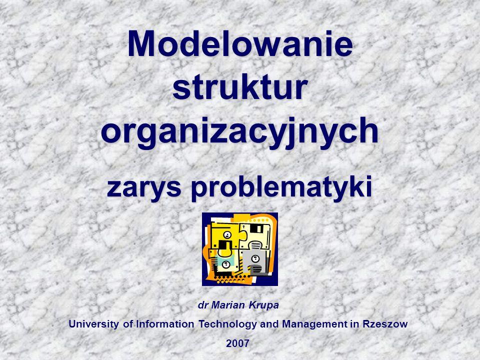 Modelowanie struktur organizacyjnych