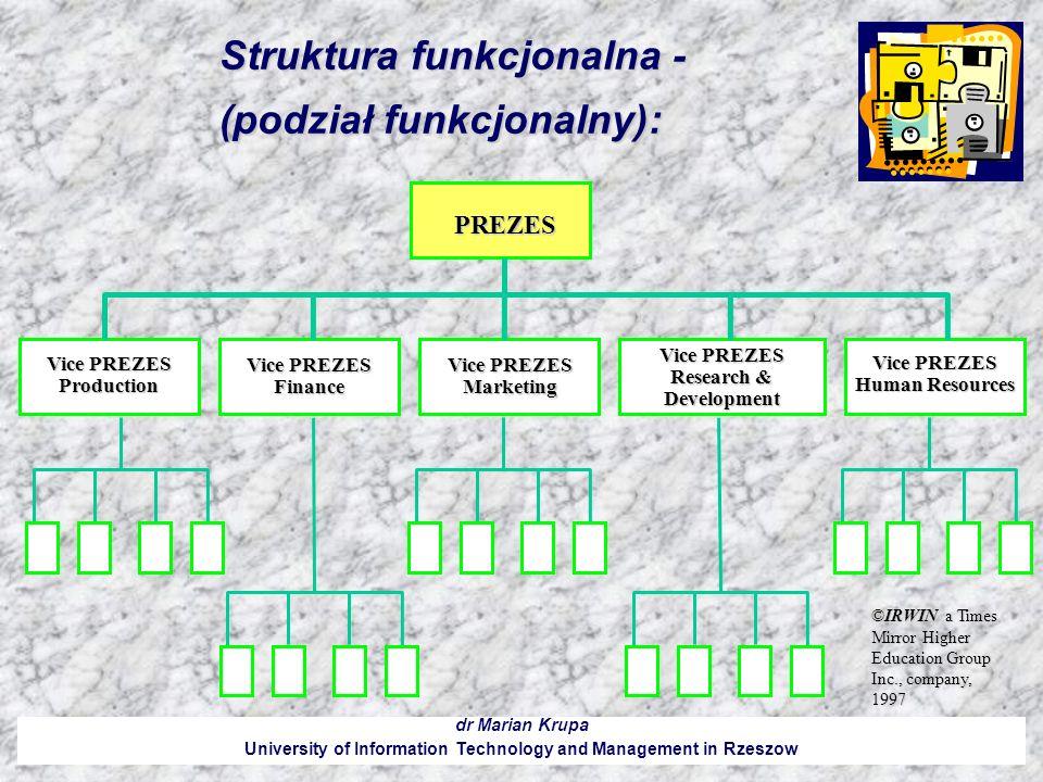 Struktura funkcjonalna - (podział funkcjonalny):