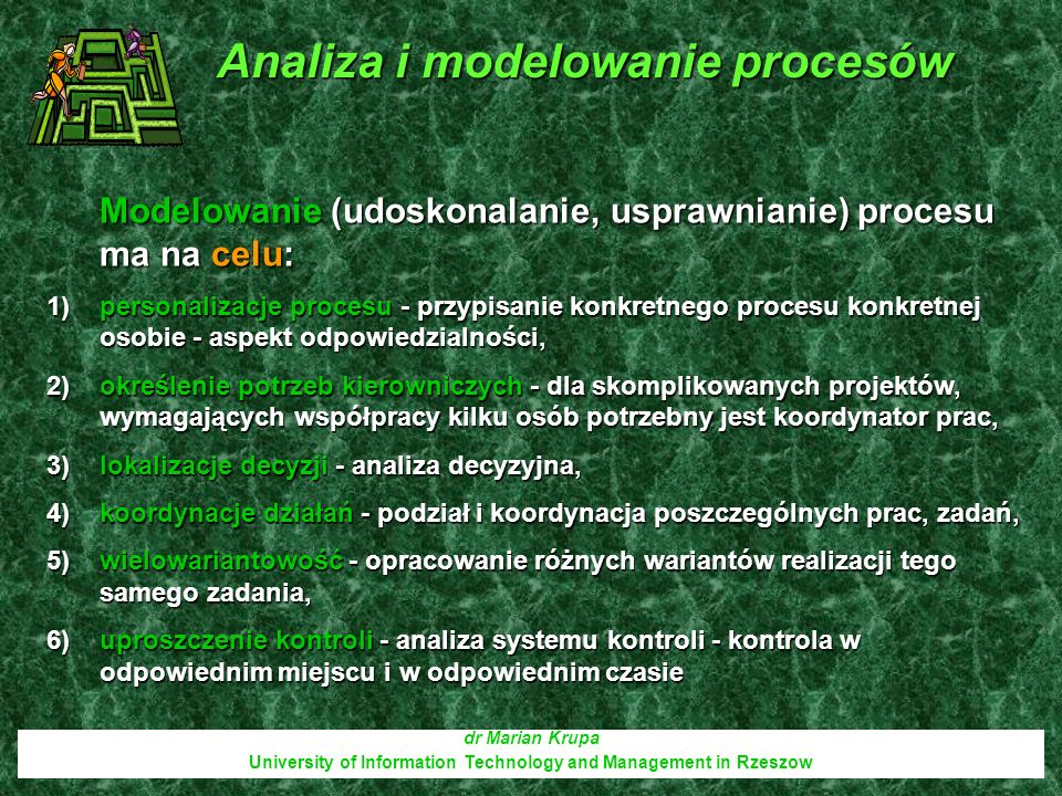 Analiza i modelowanie procesów