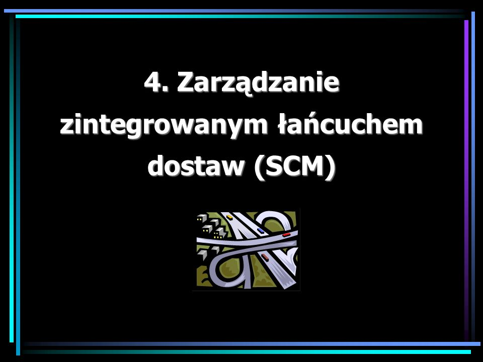 4. Zarządzanie zintegrowanym łańcuchem dostaw (SCM)