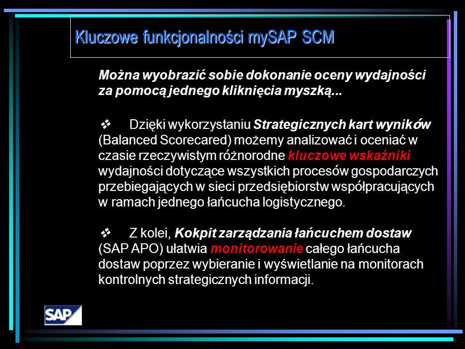 Kluczowe funkcjonalności mySAP SCM