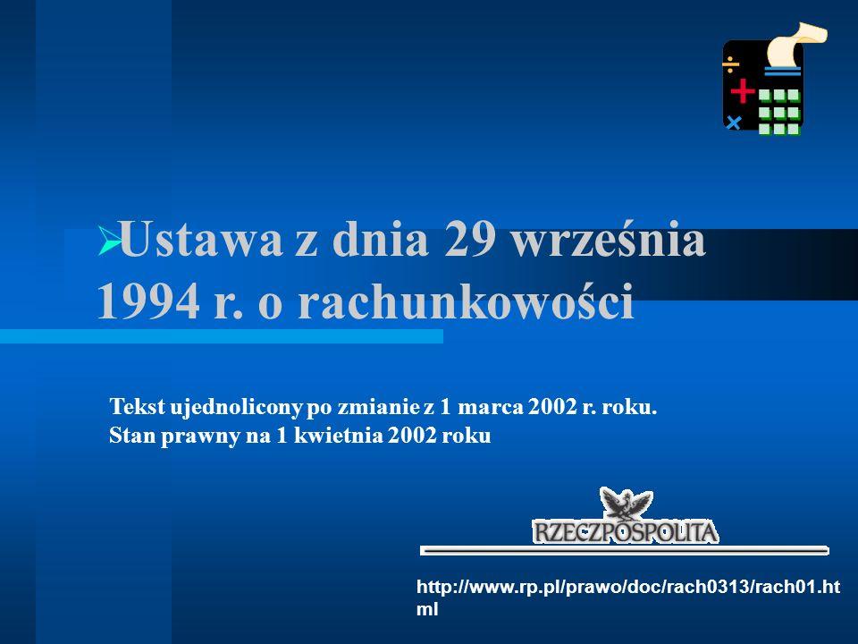 Ustawa z dnia 29 września 1994 r. o rachunkowości