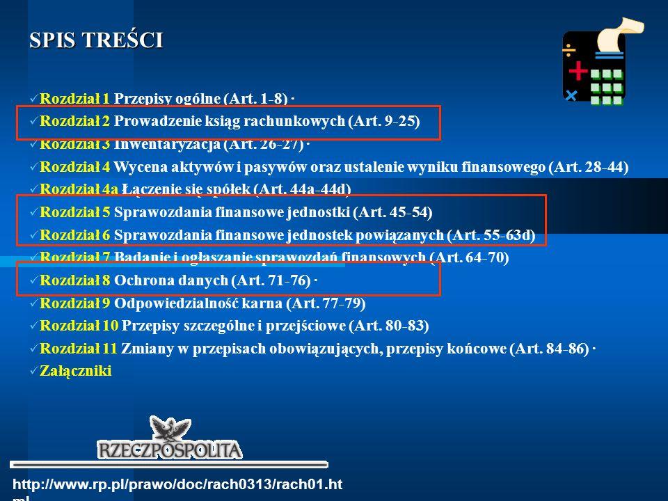 SPIS TREŚCI Rozdział 1 Przepisy ogólne (Art. 1-8) ·