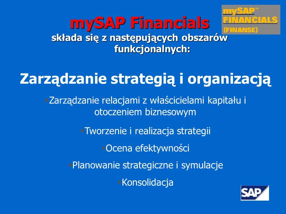 mySAP Financials Zarządzanie strategią i organizacją