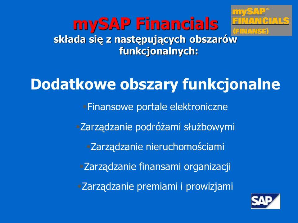 mySAP Financials Dodatkowe obszary funkcjonalne