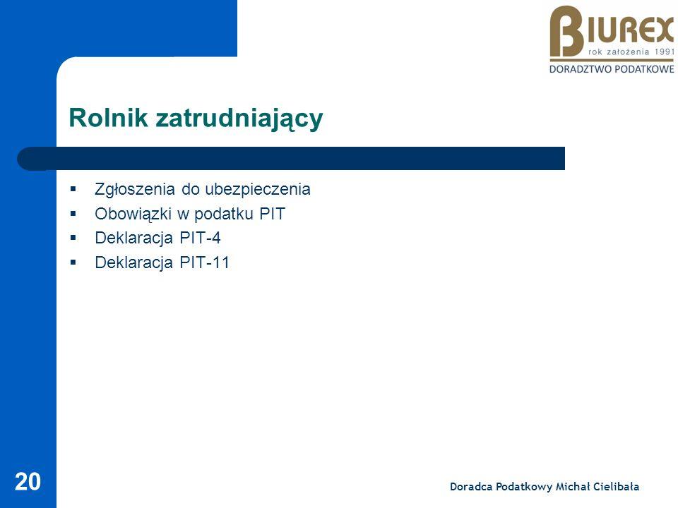 Doradca Podatkowy Michał Cielibała