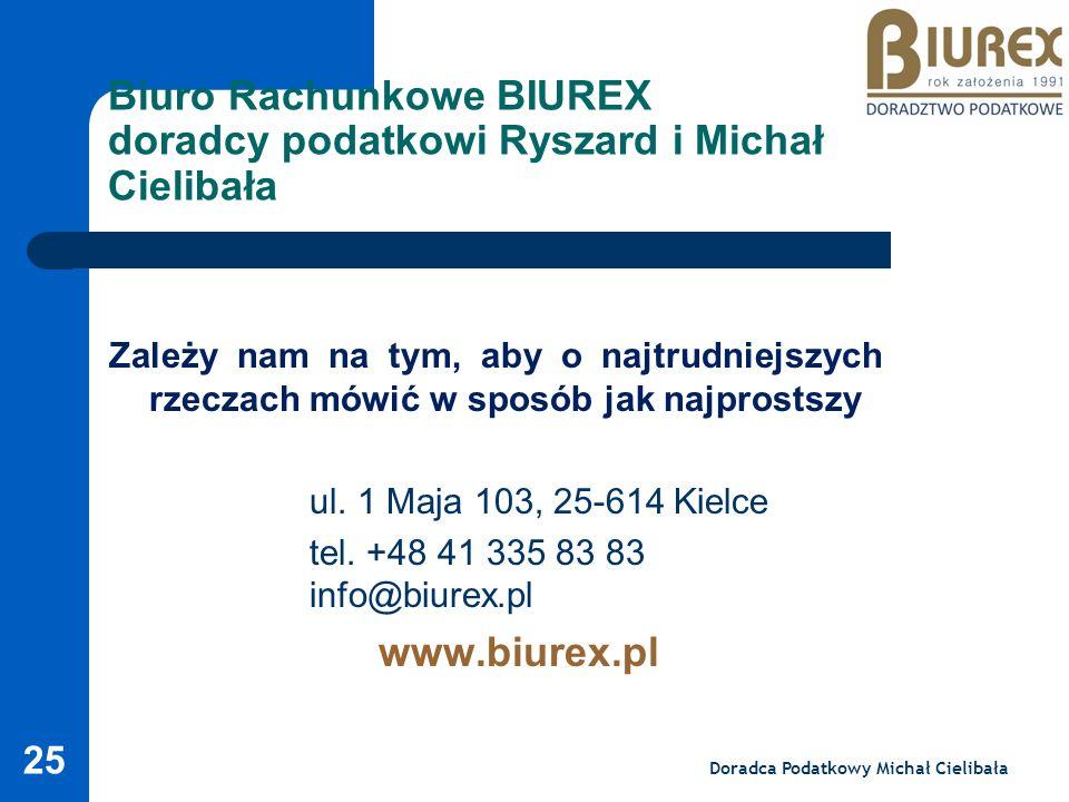 Biuro Rachunkowe BIUREX doradcy podatkowi Ryszard i Michał Cielibała