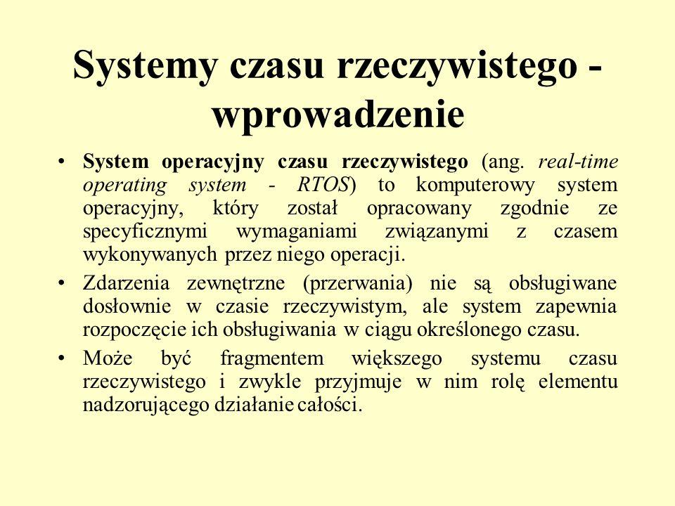 Systemy czasu rzeczywistego - wprowadzenie
