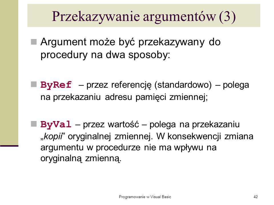 Przekazywanie argumentów (3)