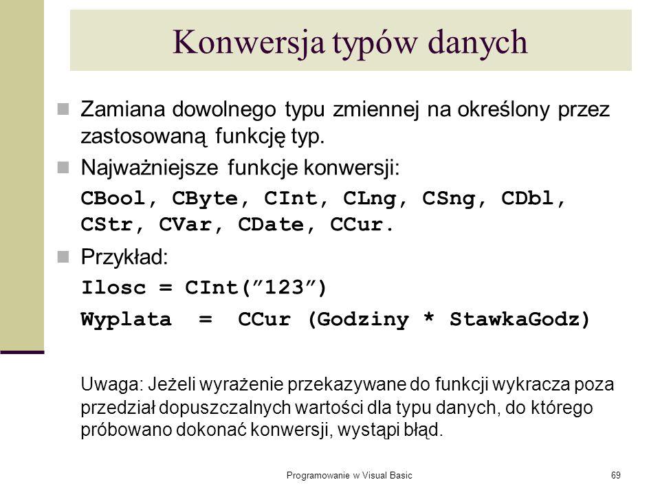 Konwersja typów danych