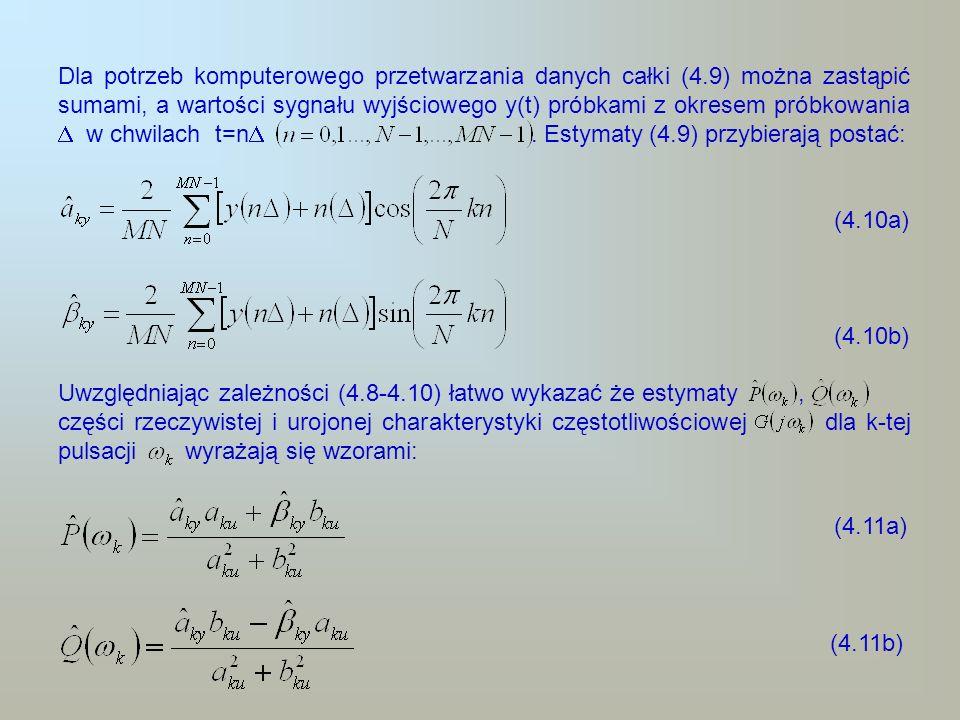 Dla potrzeb komputerowego przetwarzania danych całki (4