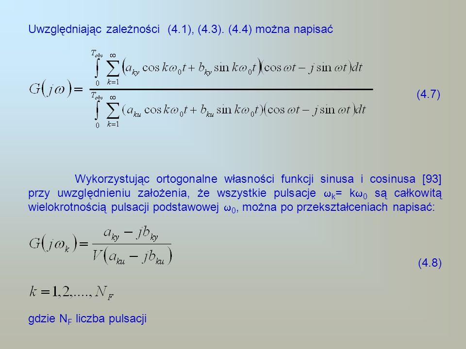 (4.7) Uwzględniając zależności (4.1), (4.3). (4.4) można napisać
